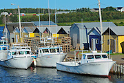 Fishing boats and shacks<br /> North Lake<br /> Prince Edward Island<br /> Canada