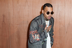 File photo - Chris Brown attending the Givenchy show as part of Paris Fashion Week Fall/Winter 2016/17 at Carreau du Temple in Paris, France on March 06, 2016. US singer Chris Brown was arrested in Paris yesterday morning January 21, 2019, with two other people on suspicion of rape, a French police source said. Three men had been detained after a 24-year-old woman alleged she was raped at Brown's hotel suite on the night of January 15, 2019. Photo by Audrey Poree/ABACAPRESS.COM
