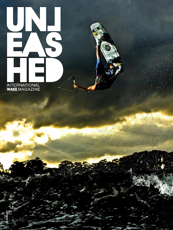 Harley Clifford on the cover of Unleashed Wakeboard Magazine.