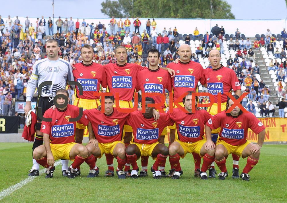 Turkish soccer...<br /> Turkish soccer super league team Goztepe. <br /> Photo by Aykut AKICI/TurkSporFoto