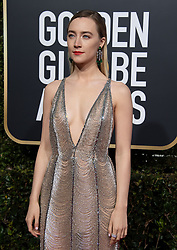 January 6, 2019 - Beverly Hills, California, United States of America - Saoirse Ronan attends the 76th Annual Golden Globe Awards at the Beverly Hilton in Beverly Hills, California on  Sunday, January 6, 2019. HFPA/POOL/PI (Credit Image: © Prensa Internacional via ZUMA Wire)