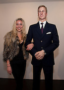 NOELLE RENO; PRINCE WILLIAM WAXWORK, 'Engagement' exhibition of work by Jennifer Rubell. Stephen Friedman Gallery. London. 7 February 2011. -DO NOT ARCHIVE-© Copyright Photograph by Dafydd Jones. 248 Clapham Rd. London SW9 0PZ. Tel 0207 820 0771. www.dafjones.com.