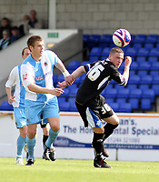 Photo: Mark Stephenson/Richard Lane Photography. <br /> Chester City v  Macclesfield Town. Coca-Cola Football League Two. 03/05/2008. <br /> Macclesfield's John Rooney wins the ball