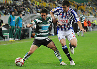 20091103: LISBON, PORTUGAL - Sporting Lisbon vs Heerenveen: Europa League 2009/2010 - Group Stage. In picture: Joao Moutinho and Goran Popov. PHOTO: Alexandre Pona/CITYFILES