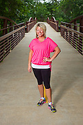 Editorial photography of Sarah Ogle for a magazine fitness feature in Fayetteville, Arkansas.