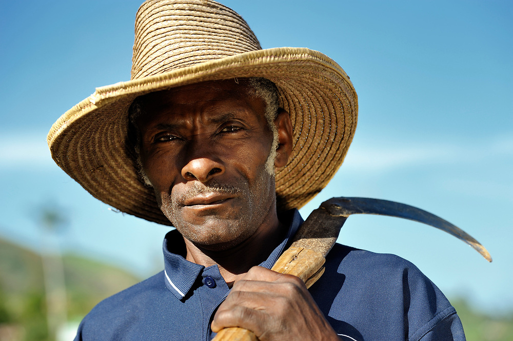 A man in Les Palmes, a rural village in southern Haiti where the Lutheran World Federation has been working with survivors of the 2010 earthquake, along with other residents, to experience more abundant life.
