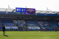 Football - 2020 / 2021 Premier League - Leicester City vs Liverpool - King Power Stadium<br /> <br /> The players wait on the decision to be overturned as Leicester City's Daniel Amartey scores his side's equalising goal to make the score 1-1.<br /> <br /> COLORSPORT/ASHLEY WESTERN