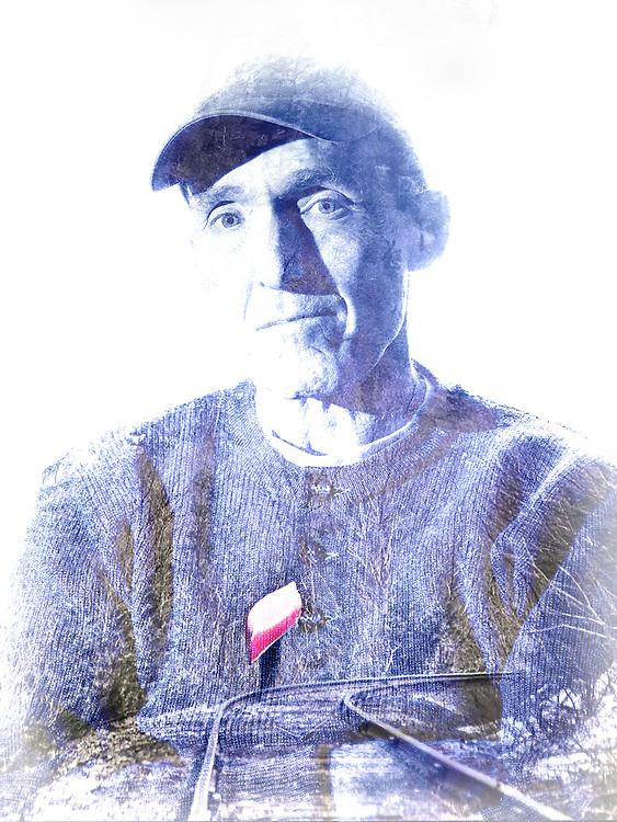 Portrait of canoe adventurer and racer Steve Landick.