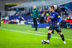 November 6, 2019, Milano, Italy: alejandro gomez (atalanta bc)during Tournament round, group C, Atalanta vs Manchester City, Soccer Champions League Men Championship in Milano, Italy, November 06 2019 - LPS/Fabrizio Carabelli (Credit Image: © Fabrizio Carabelli/LPS via ZUMA Wire)