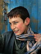 Ata Mhd (brother). One family..Many Wakhis are blue eyed. Some say descendant of Alexander the Great..Winter expedition through the Wakhan Corridor and into the Afghan Pamir mountains, to document the life of the Afghan Kyrgyz tribe. January/February 2008. Afghanistan