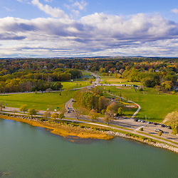 Payson Park and Back Cove in Portland, Maine.