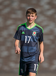 WREXHAM, WALES - Monday, July 22, 2019: Peter Evans of North during the Welsh Football Trust Cymru Cup 2019 at Colliers Park. (Pic by Paul Greenwood/Propaganda)