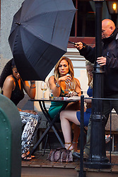 April 26, 2019 - New York, New York, United States - Actors (L-R) Keke Palmer, Jennifer Lopez and Lili Reinhart were on the Manhattan set of the new TV show 'Hustlers' on April 25 2019 in New York City  (Credit Image: © Mike Reed/Ace Pictures via ZUMA Press)