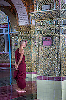 Beautiful views from Mandalay Hill with plenty of monks to chat with while waiting for the sun to set.