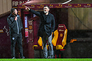 Motherwell FC manager Graham Alexander shouts instructions during the SPFL Premiership match between Motherwell and Dundee United at Fir Park, Motherwell, Scotland on 3 February 2021.