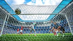 Alan Ruiz marca gol na partida econtra o Internacional válida pelo GRENAL 403 na Arena do Gremio, em Porto Alegre. FOTO: Jefferson Bernardes/ Agência Preview
