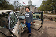 Mamie Fields, wife of St. Joseph's mayor, filling up gallon jugs with water provided by the state of Louisiana. Gov. John Bell Edwards made an emergency health proclamation on December 16, 2016, enabling a fast-tracked replacement of St. Joseph's water system after lead was found in the water.