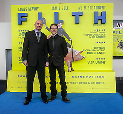 Irvine Welsh and James McAvoy, <br /> Edinburgh hosts the World Premiere of Filth at the Omni cinema.<br /> ©Michael Schofield.