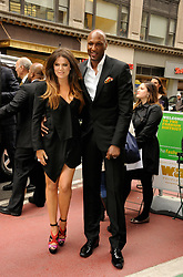 Khloe Kardashian Odom and Lamar Odom attending the '2012 E! Television Network UpFront', held at Gotham Hall in New York City, NY, USA, on April 30, 2012. Photo by Graylock/ABACAPRESS.COM  | 318573_052