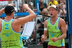 Michael Murauer and Florian Schnetzer at Beach Volleyball Challenge Ljubljana 2014, on August 2, 2014 in Kongresni trg, Ljubljana, Slovenia. Photo by Matic Klansek Velej / Sportida.com