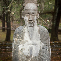 A statue at the tomb of Emperor Tự Đức just outside of Hue, Vietnam.