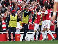 20120226: LONDON, UK - Barclays Premier League 2011/2012: Arsenal vs Tottenham.<br /> In photo: Arsenals Tomas Rosicky celebrates scoring his sides third goal.<br /> PHOTO: CITYFILES