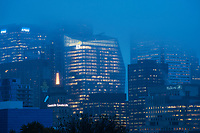 Financial District in the Morning Fog