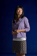 Canadian short story writer and novelist Madeleine Thien, pictured at the Edinburgh International Book Festival where she talked about her latest book entitled 'Dogs at the Perimeter'. The three-week event is the world's biggest literary festival and is held during the annual Edinburgh Festival. The 2012 event featured talks and presentations by more than 500 authors from around the world.