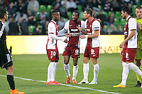 Altercation Metz - Bouna SARR / Romain METANIRE / Jeremy CHOPLIN - 09.05.2015 -  Metz / Lorient  - 36eme journee de Ligue 1<br />