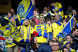 A general view of Clermont Auvergne supporters - Photo mandatory by-line: Patrick Khachfe/JMP - Mobile: 07966 386802 02/05/2015 - SPORT - RUGBY UNION - London - Twickenham Stadium - ASM Clermont Auvergne v RC Toulon - European Rugby Champions Cup Final
