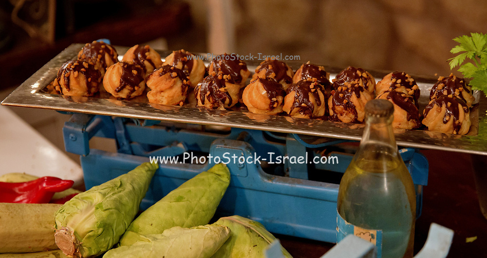 various Finger food desserts on display on a buffet table at a cocktail event
