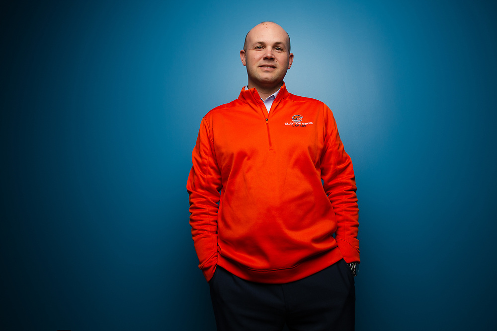 Clayton State Athletic Director Ryan Erlacher, photographed on Thursday, Dec. 6, 2018. Photo by Kevin D. Liles / kevindliles.com