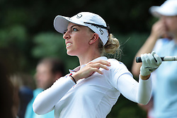 June 17, 2018 - Belmont, Michigan, United States - Sophia Popov of Germany tees off on the 9th tee during the final round of the Meijer LPGA Classic golf tournament at Blythefield Country Club in Belmont, MI, USA  Sunday, June 17, 2018. (Credit Image: © Jorge Lemus/NurPhoto via ZUMA Press)