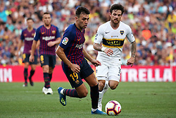 August 15, 2018 - Barcelona, Spain - Perez and Munir during the match between FC Barcelona and C.A. Boca Juniors, corresponding to the Joan Gamper trophy, played at the Camp Nou, on 15th August, 2018, in Barcelona, Spain. (Credit Image: © Joan Valls/NurPhoto via ZUMA Press)