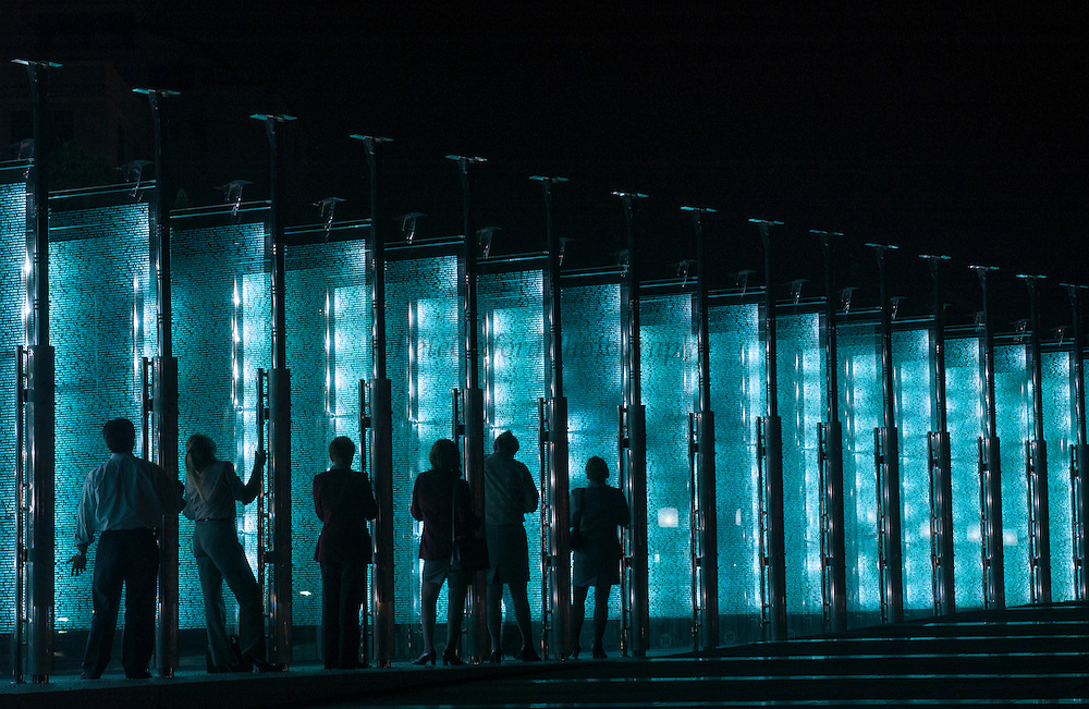 Monument to the contributors of the Malecon 2000 project<br /> Civic Plaza, Malecon<br /> Guayaquil<br /> ECUADOR, South America<br /> This monument is a list of thousands of names etched in glass of everyone who contributed in one way or another to the remodelling of the Guayaquil seafront complex