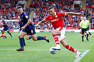 Barnsley forward Jacob Brown (33) in action  during the EFL Sky Bet League 1 match between Barnsley and Luton Town at Oakwell, Barnsley, England on 13 October 2018.