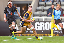 Mitch Eadie of Bristol Rugby scores a try - Rogan Thomson/JMP - 08/10/2016 - RUGBY UNION - Kingston Park - Newcastle, England - Newcastle Falcons v Bristol Rugby - Aviva Premiership.