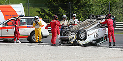 19.05.2013, Salzburgring, Salzburg, AUT, Suzuki Motorsport Cup Rennen 2, im Bild Ueberschlag von Istvan Koller // during the Suzuki Motorsport Cup Austrian Race two, held at the Salburgring near Salzburg, Austria on 2013/05/19. EXPA Pictures © 2013, PhotoCredit: EXPA/ Roland Hackl