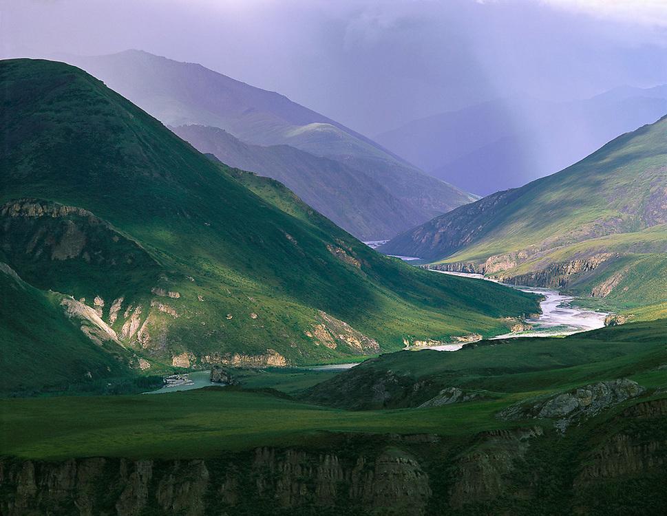 Kongakut River Valley, summer storm, Arctic National Wildlife Refuge, Alaska, USA