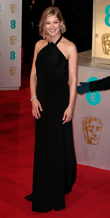 Feb 8, 2015 - EE British Academy Film Awards 2015 - Red Carpet Arrivals at Royal Opera House<br /> <br /> Pictured: Rosamund Pike<br /> ©Exclusivepix Media