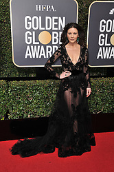 Catherine Zeta-Jones  at the 75th Golden Globe Awards held at the Beverly Hilton in Beverly Hills, CA on January 7, 2018.<br />