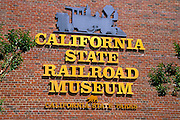 The California State Railroad Museum in Old Town Sacramento, California