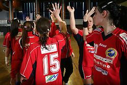 Players of Celje at handball game ZRK Celje Celjske Mesnine vs RK Krim Mercator in final match of Slovenian Handball Cup,  on April 6, 2008 in Arena Golovec, Celje, Slovenia. Krim won the game 31:21 and became Cup Winner.  (Photo by Vid Ponikvar / Sportal Images)