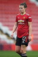 Manchester United midfielder Hayley Ladd (12) Portrait half body during the FA Women's Super League match between Manchester United Women and Manchester City Women at Leigh Sports Village, Leigh, United Kingdom on 14 November 2020.