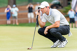 May 4, 2019 - Charlotte, NC, U.S. - CHARLOTTE, NC - MAY 04:  Rory McIlroy reads the 3rd green during the third round of the Wells Fargo Championship at Quail Hollow on May 4, 2019 in Charlotte, NC. (Photo by William Howard/Icon Sportswire) (Credit Image: © William Howard/Icon SMI via ZUMA Press)