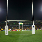 Kurtley Beale, Australia, scores a try during the Australia V USA, Pool C match during the IRB Rugby World Cup tournament. Wellington Stadium, Wellington, New Zealand, 23rd September 2011. Photo Tim Clayton...