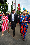 17/05/2019 MEP Candidate Maria Walsh got a big push from party leader and Taoiseach Leo Varadkar in Galway as the team canvassed the town and visited the Portershed  which celebrated it's third Birthday. Photo:Andrew Downes, Xposure