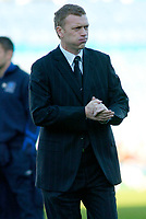 Photo: Gareth Davies.<br />Portsmouth v Everton. The Barclays Premiership. 09/12/2006.<br />Everton Manager David Moyes on a cold day in Portsmouth.