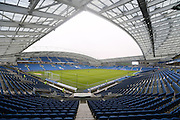 The American Express Community Stadium before the Sky Bet Championship match between Brighton and Hove Albion and Huddersfield Town at the American Express Community Stadium, Brighton and Hove, England on 23 January 2016.