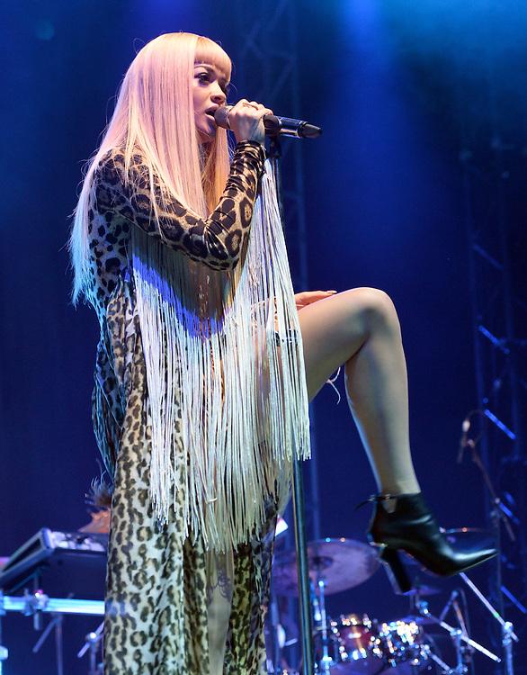 16th August <br /> V Festival  Weston Park Staffs <br /> Rita Ora <br /> Pix Dave Nelson